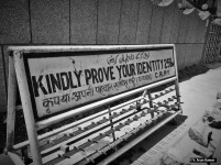 Irony: To prove your identity in your own land to military occupiers! (Location LD Hospital, Srinagar)