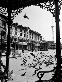 A deserted Lal Chowk during the shutdown called against Sopore killings (Location: Lal Chowk, Srinagar)