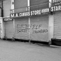 Graffiti in JKLF stronghold areas (Location, Maisuma, Srinagar Downtown)