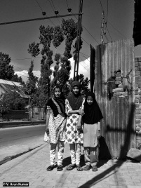 These young girls invited us to their house and served tea during shutdown (Sopore Killings, June 2015), despite us being complete strangers and knowing that we were Indians). The hospitality of Kashmiris has never been affected by conflict and militarisation. They don't hate Indians, they just want that Indians should let them live in peace. (Location: Srinagar Downtown)