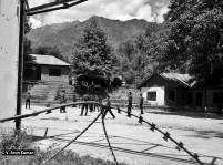 School adjacent to a military camp. (Location: Uri)